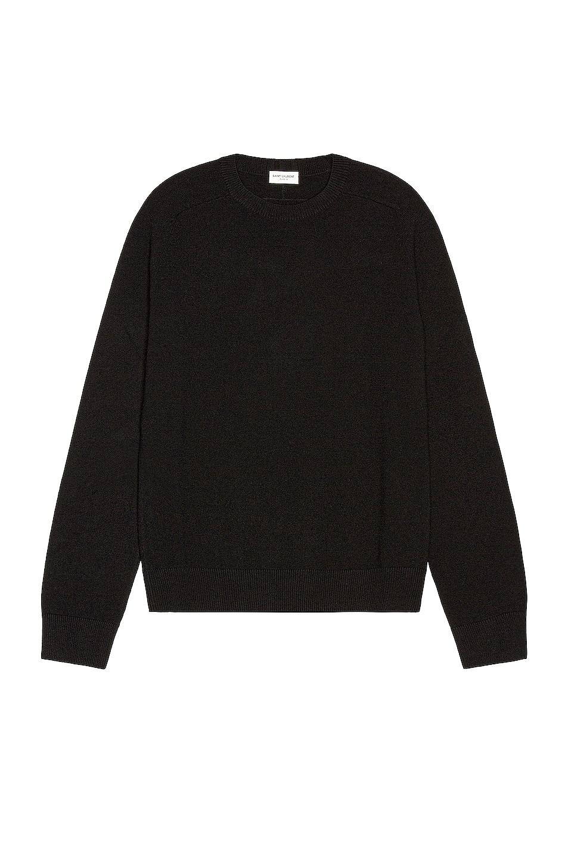 Image 1 of Saint Laurent Crew Neck Sweater in Black