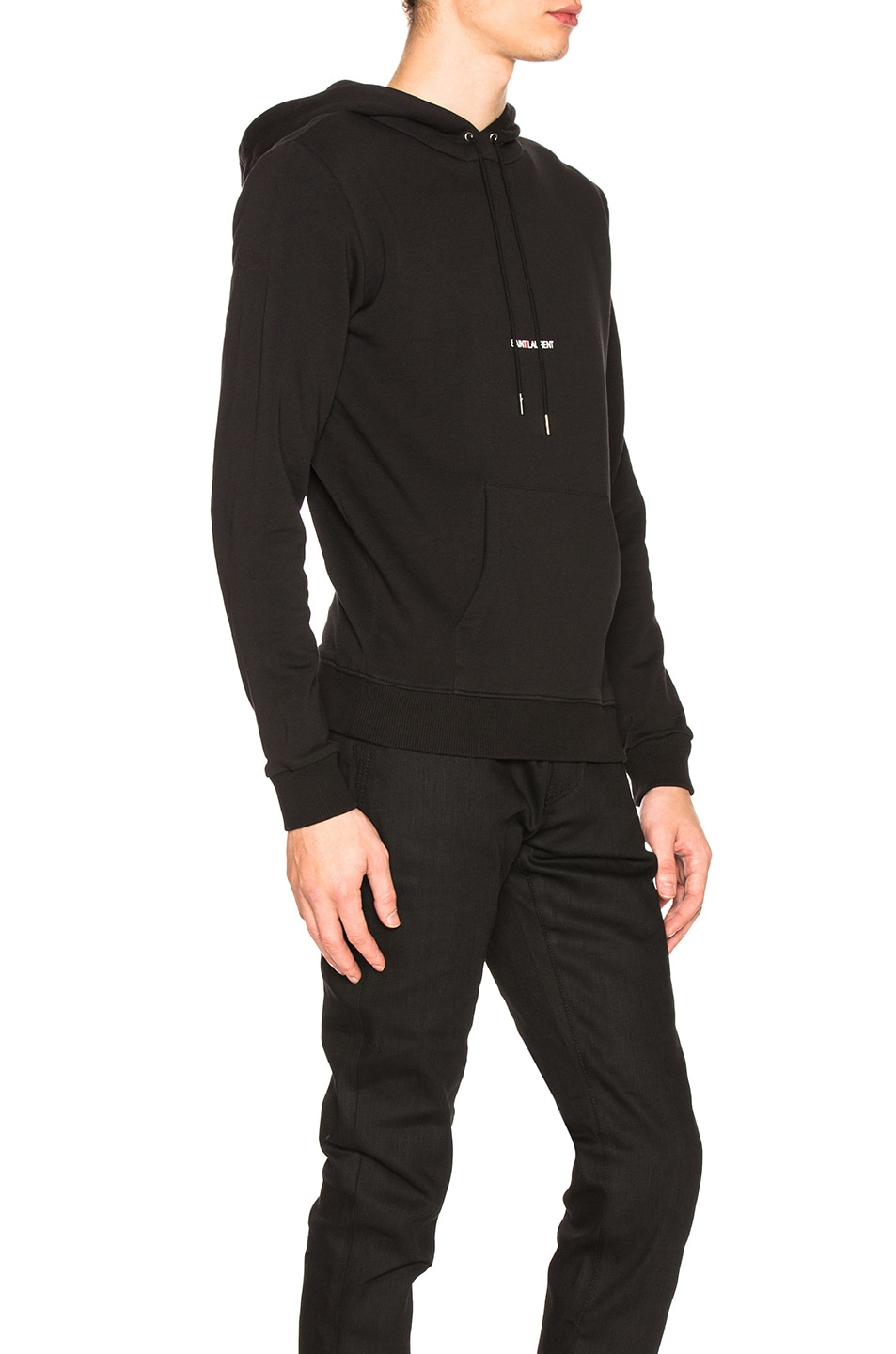 Image 2 of Saint Laurent Classic Hoodie in Black