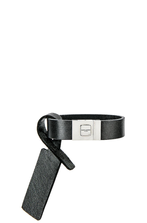 Image 3 of Saint Laurent YSL Bracelet in Black