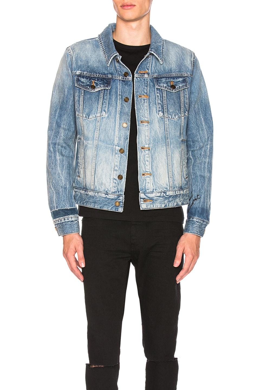 e8dd998fc4c Image 1 of Saint Laurent Denim Jacket in Blue