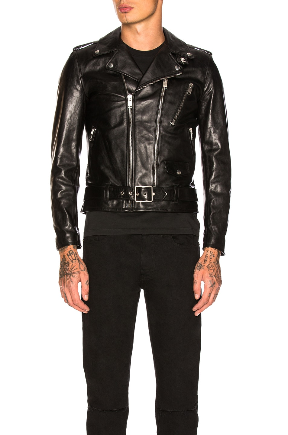 Image 2 of Saint Laurent Leather Jacket in Black