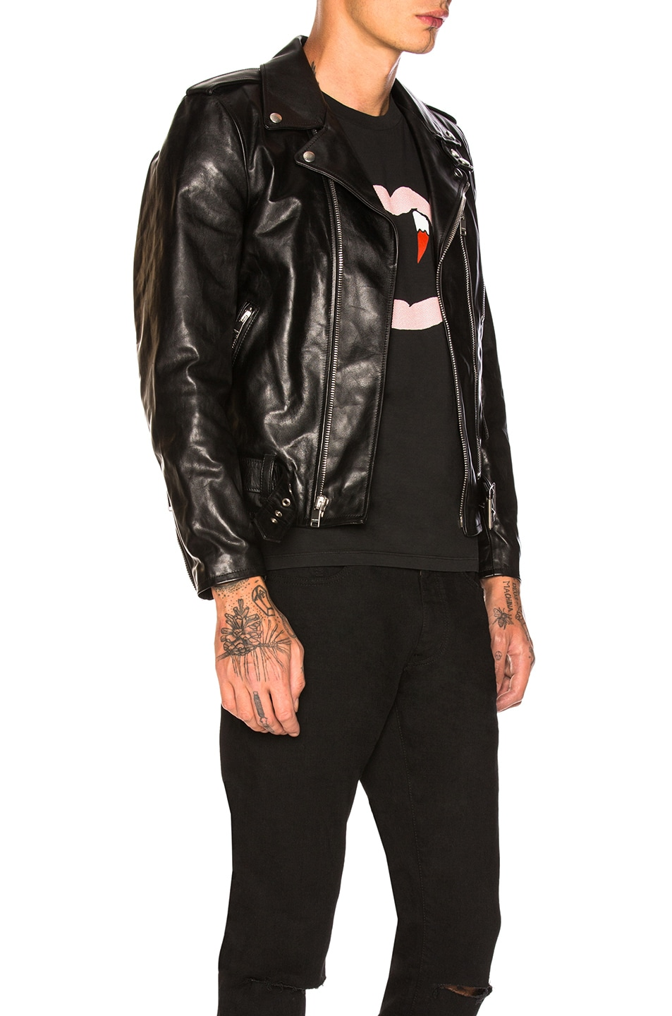 Image 3 of Saint Laurent Leather Jacket in Black