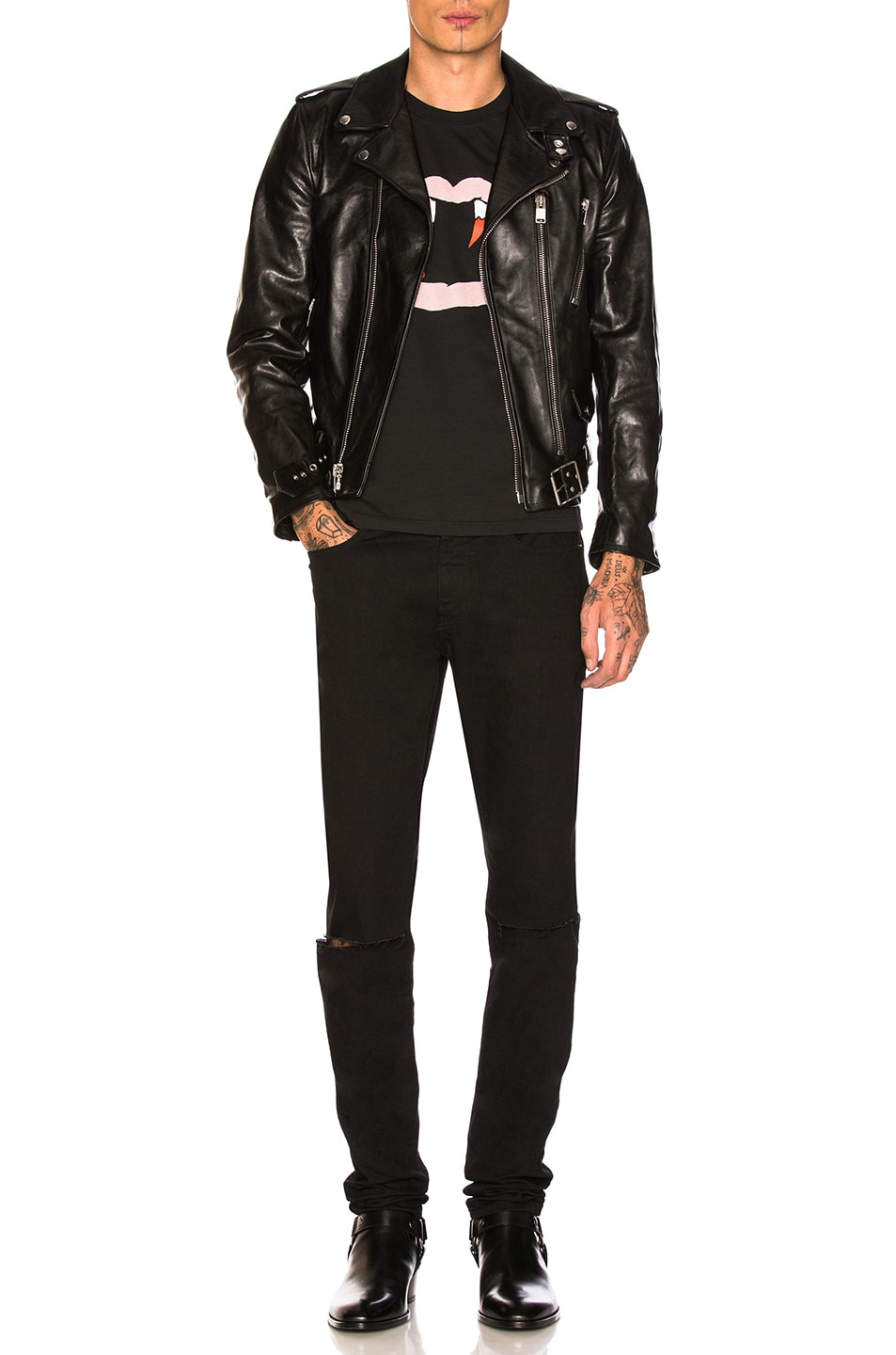 Image 5 of Saint Laurent Leather Jacket in Black