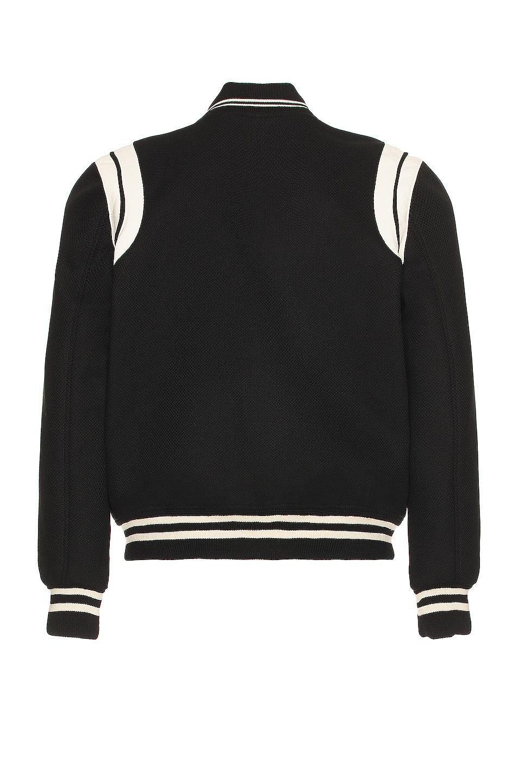 Image 2 of Saint Laurent Teddy Bomber Jacket in Black & White