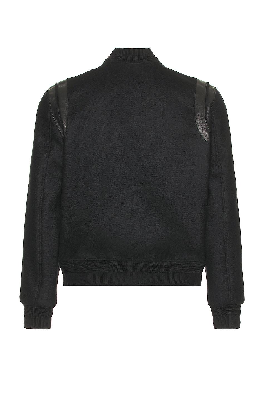 Image 2 of Saint Laurent Tonal Wool Teddy in Black