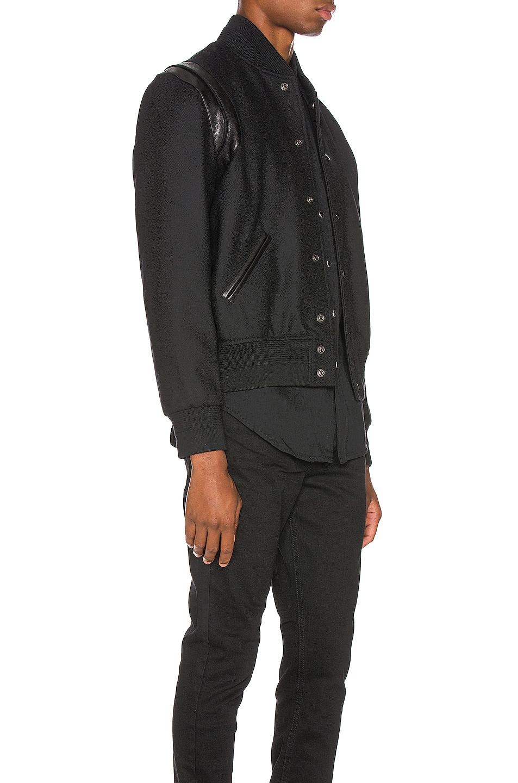 Image 5 of Saint Laurent Tonal Wool Teddy in Black