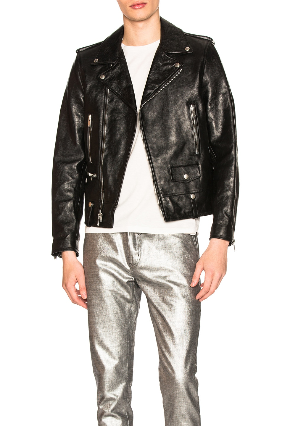 Image 1 of Saint Laurent Classic Moto in Black