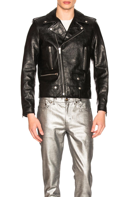 Image 2 of Saint Laurent Classic Moto in Black