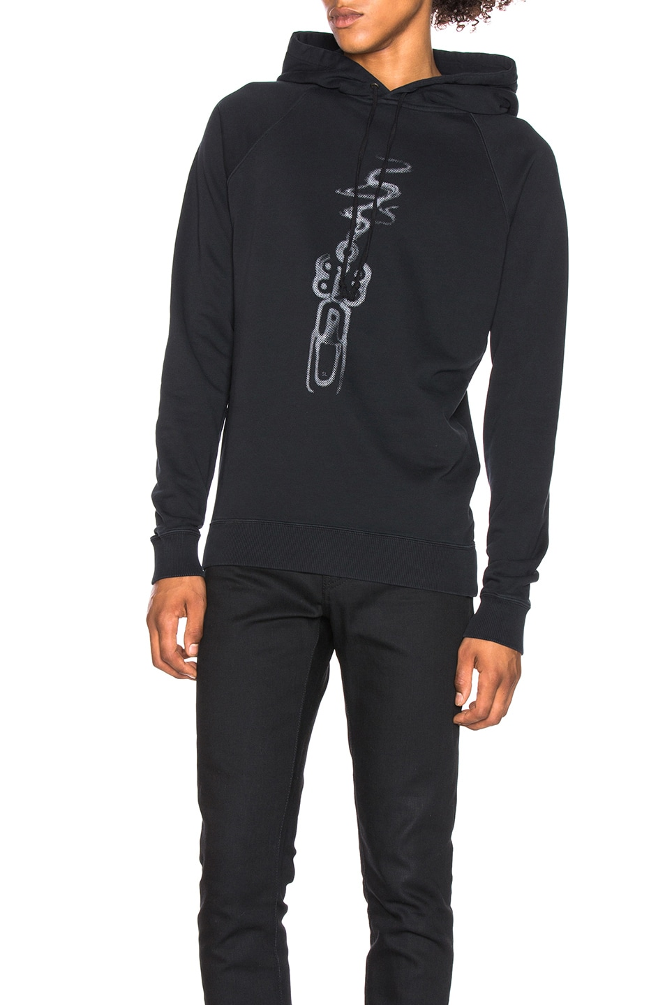 Image 1 of Saint Laurent Smoking Gun Hoodie in Black & Silver