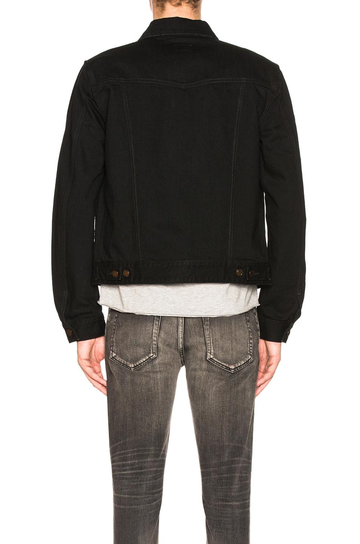 Image 3 of Saint Laurent Denim Jacket in Black in Worn Black