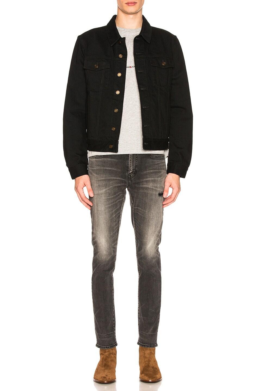Image 4 of Saint Laurent Denim Jacket in Black in Worn Black