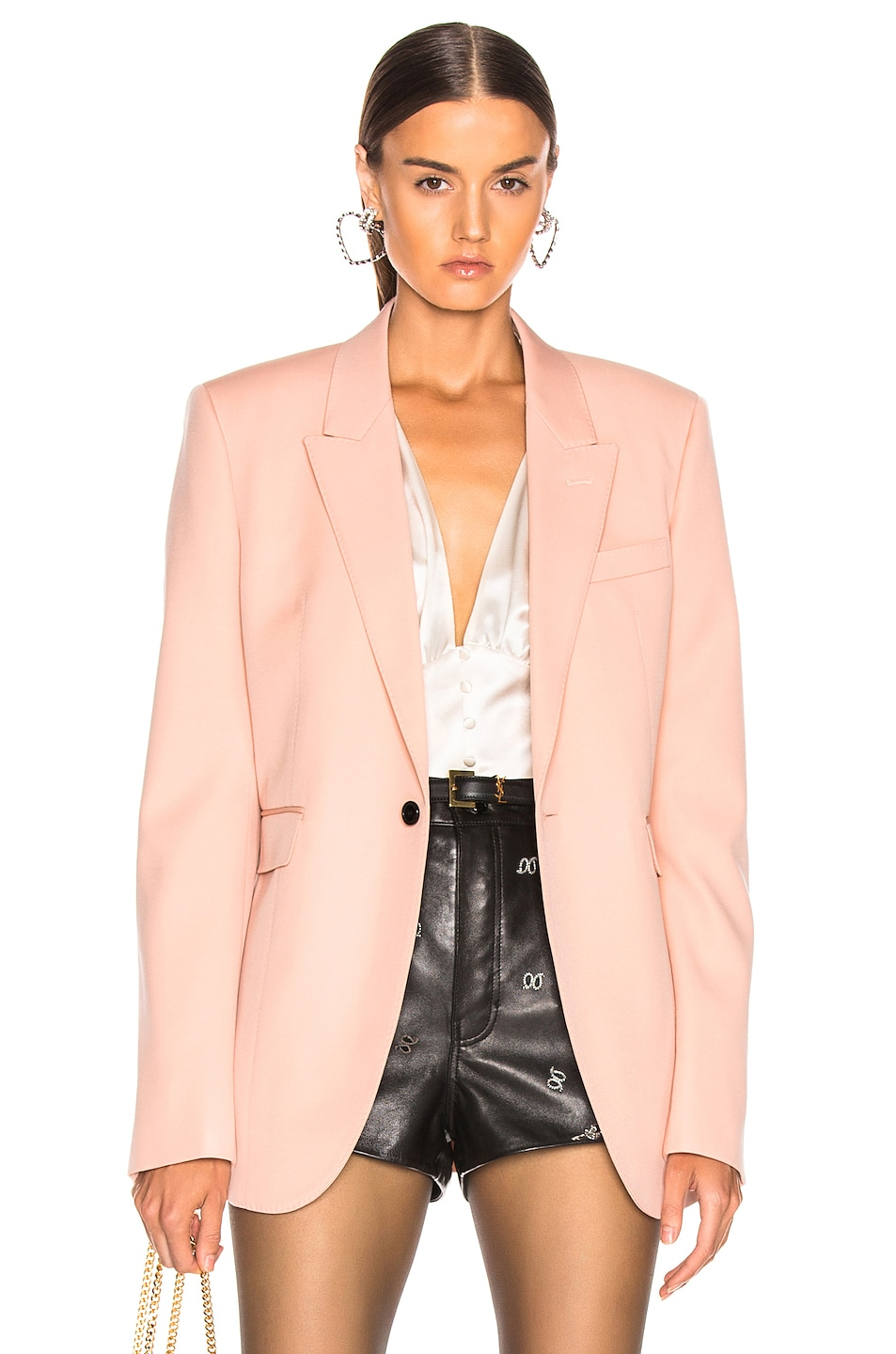 Image 1 of Saint Laurent Blazer in Pale Rose