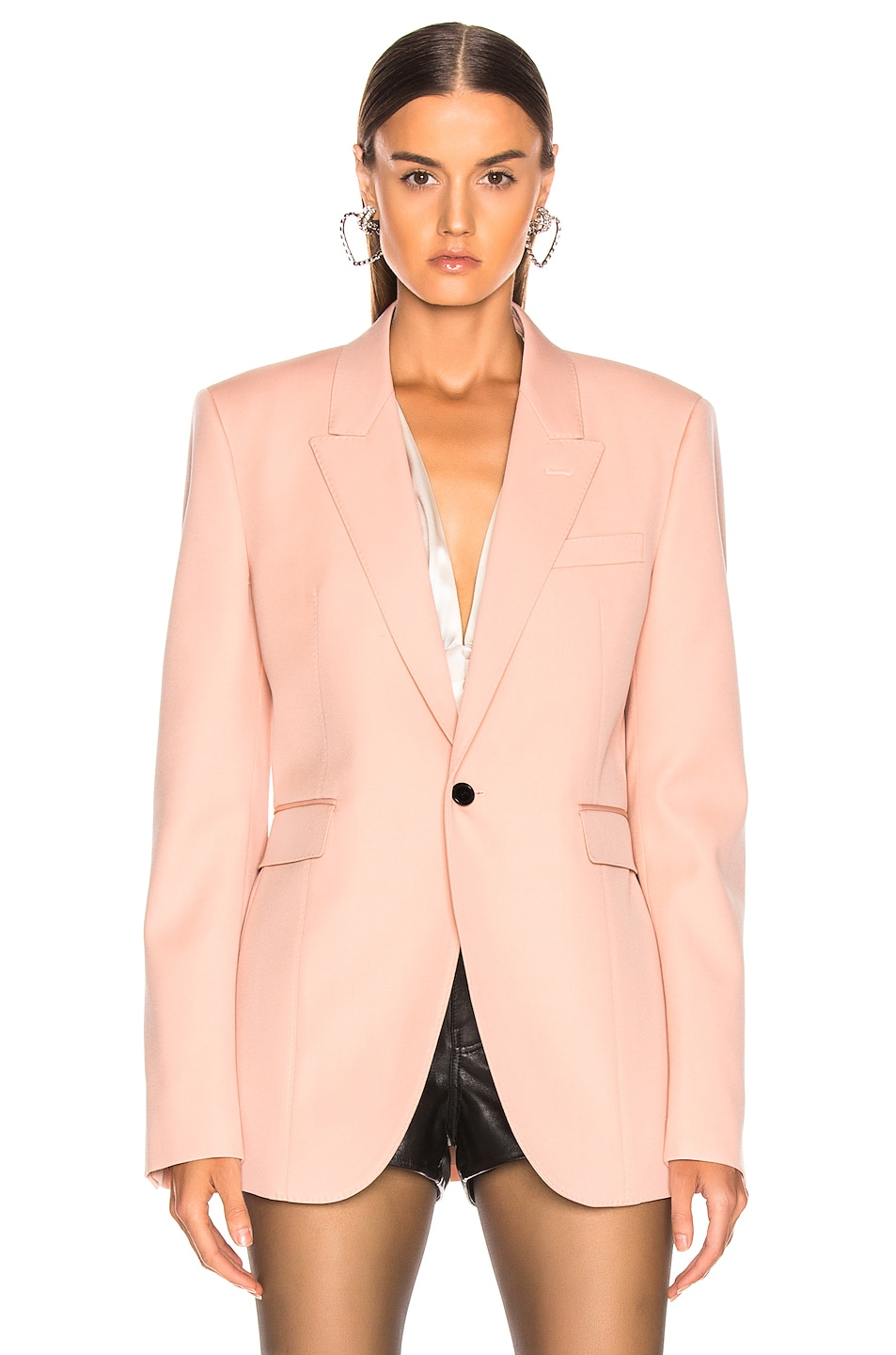 Image 2 of Saint Laurent Blazer in Pale Rose