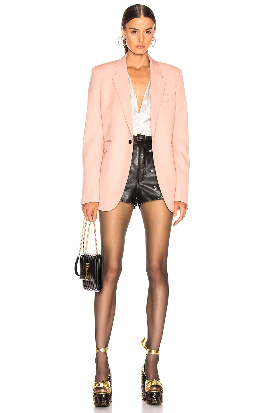 Image 5 of Saint Laurent Blazer in Pale Rose