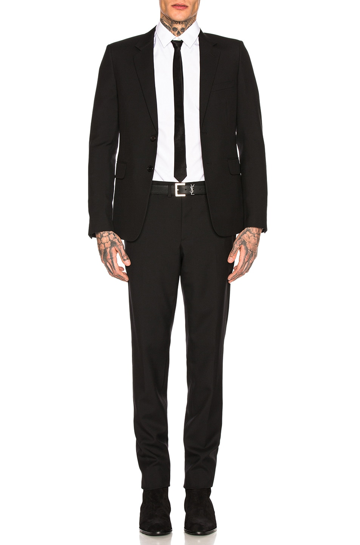 Image 1 of Saint Laurent Gabardine Suit in Black