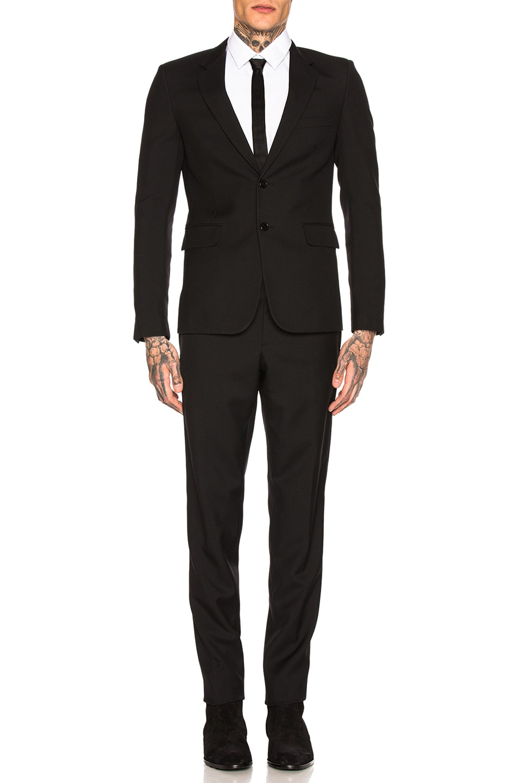 Image 2 of Saint Laurent Gabardine Suit in Black