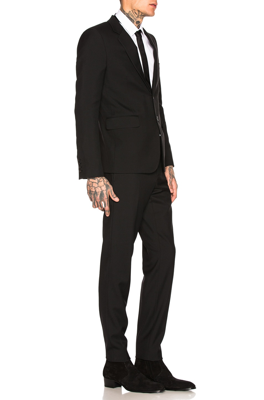 Image 3 of Saint Laurent Gabardine Suit in Black