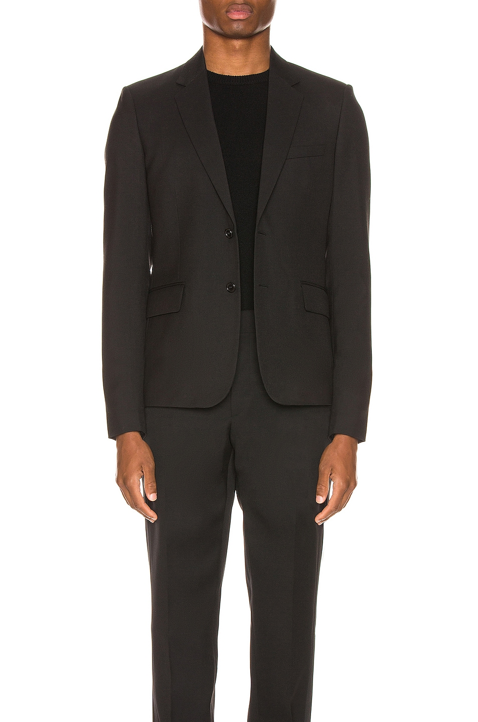 Image 1 of Saint Laurent Two Button Gabardine Blazer in Black