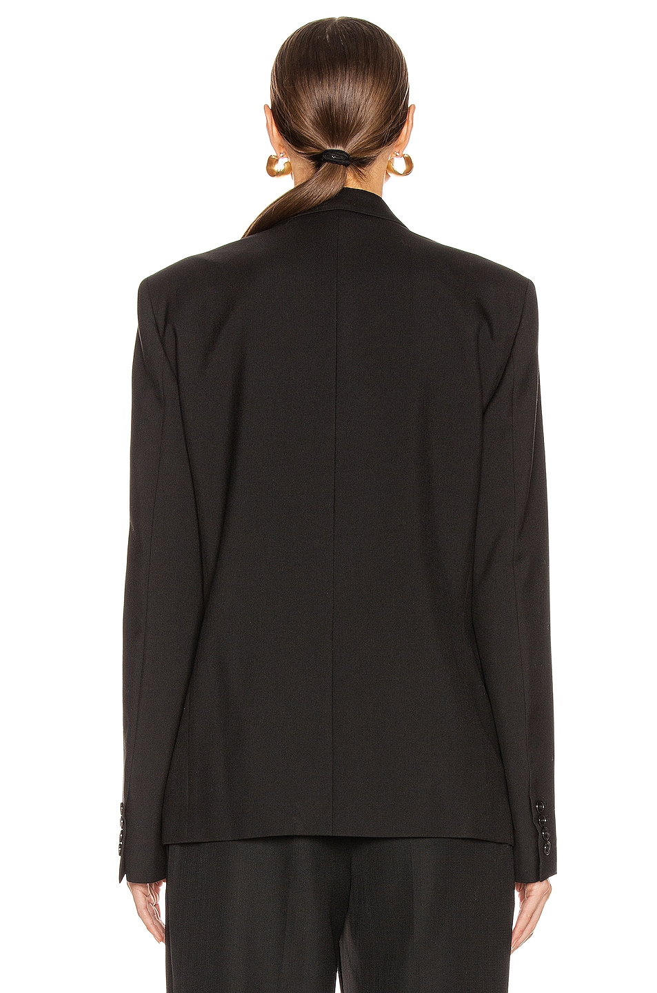 Image 4 of Saint Laurent Two Button Gabardine Blazer in Black