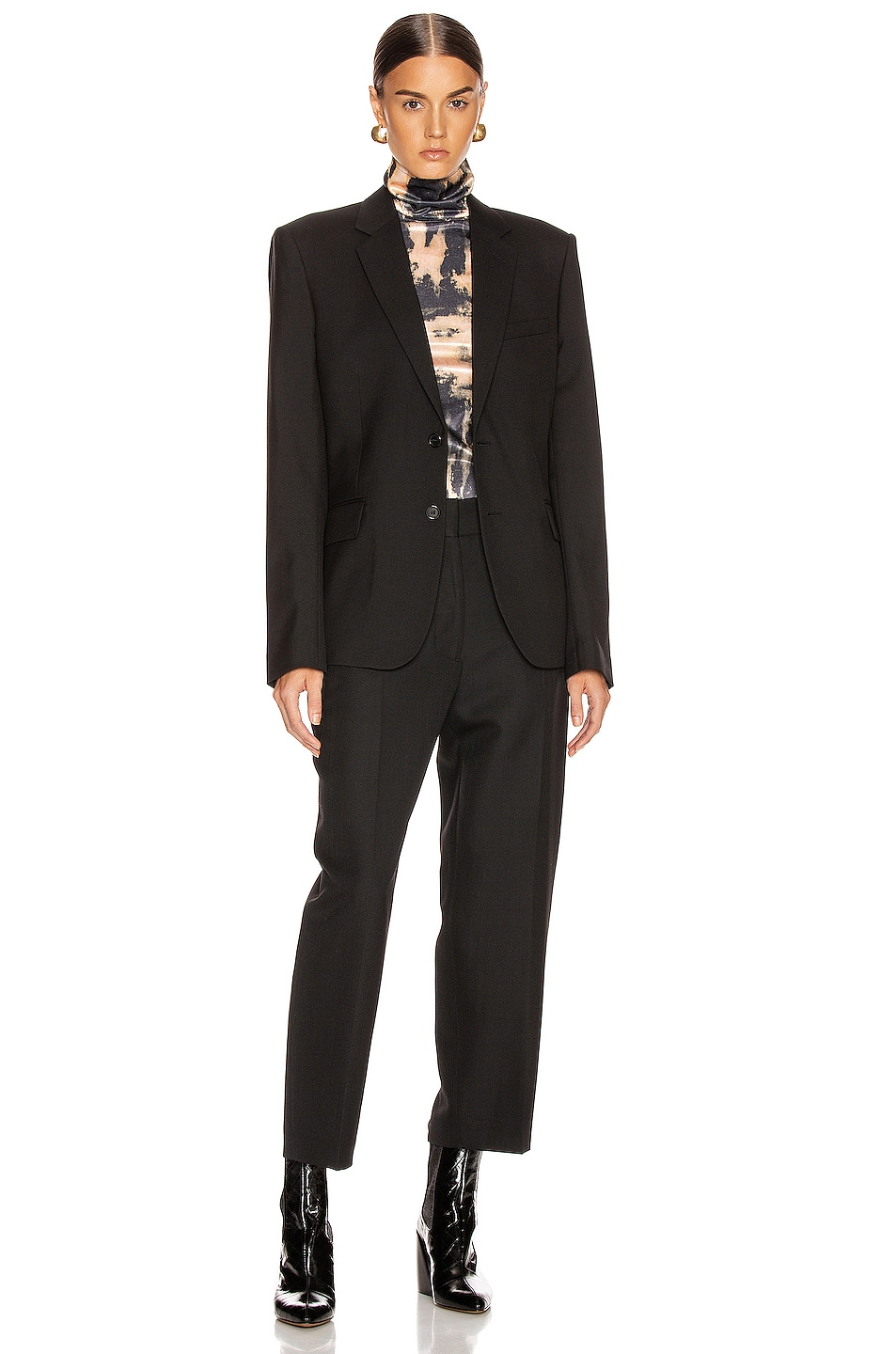 Image 5 of Saint Laurent Two Button Gabardine Blazer in Black