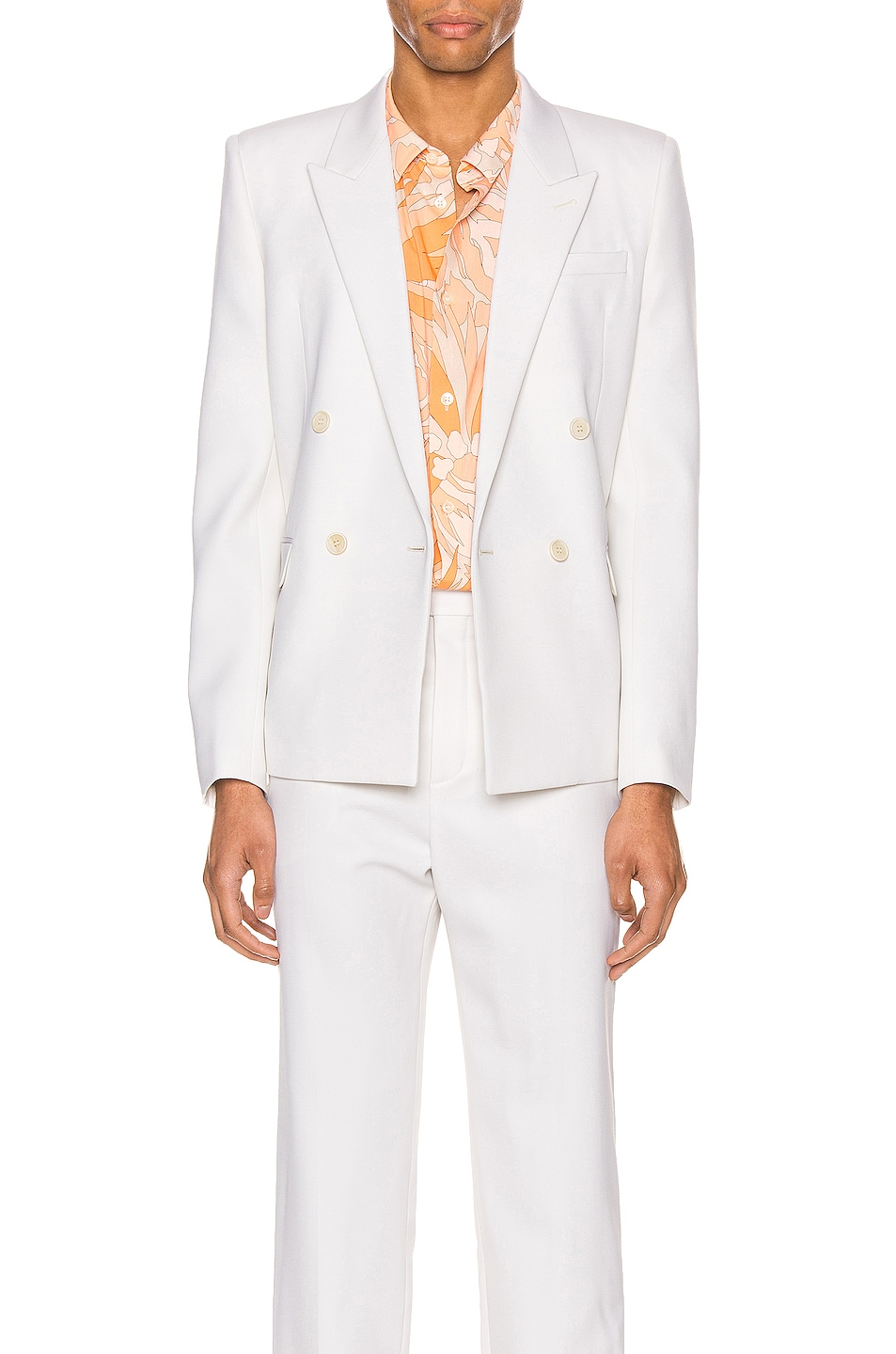Image 1 of Saint Laurent Suit Jacket in Chalk
