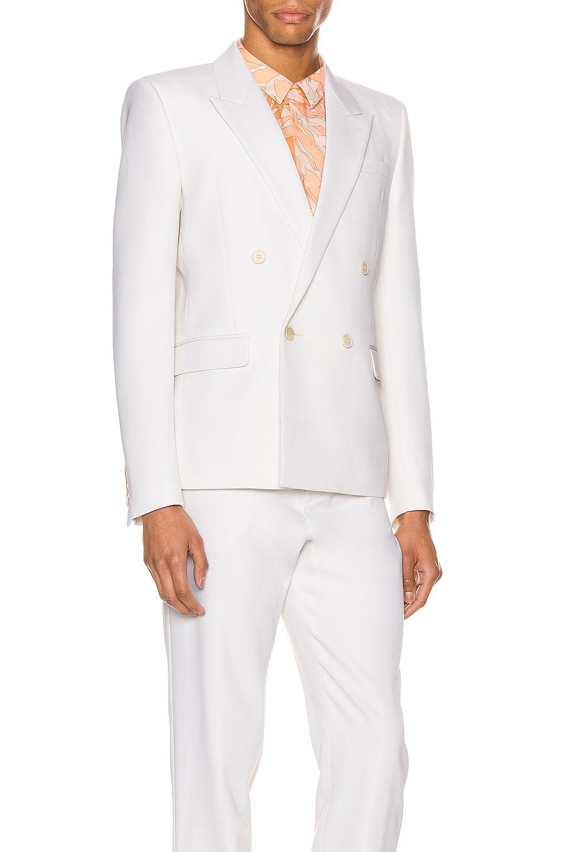 Image 3 of Saint Laurent Suit Jacket in Chalk