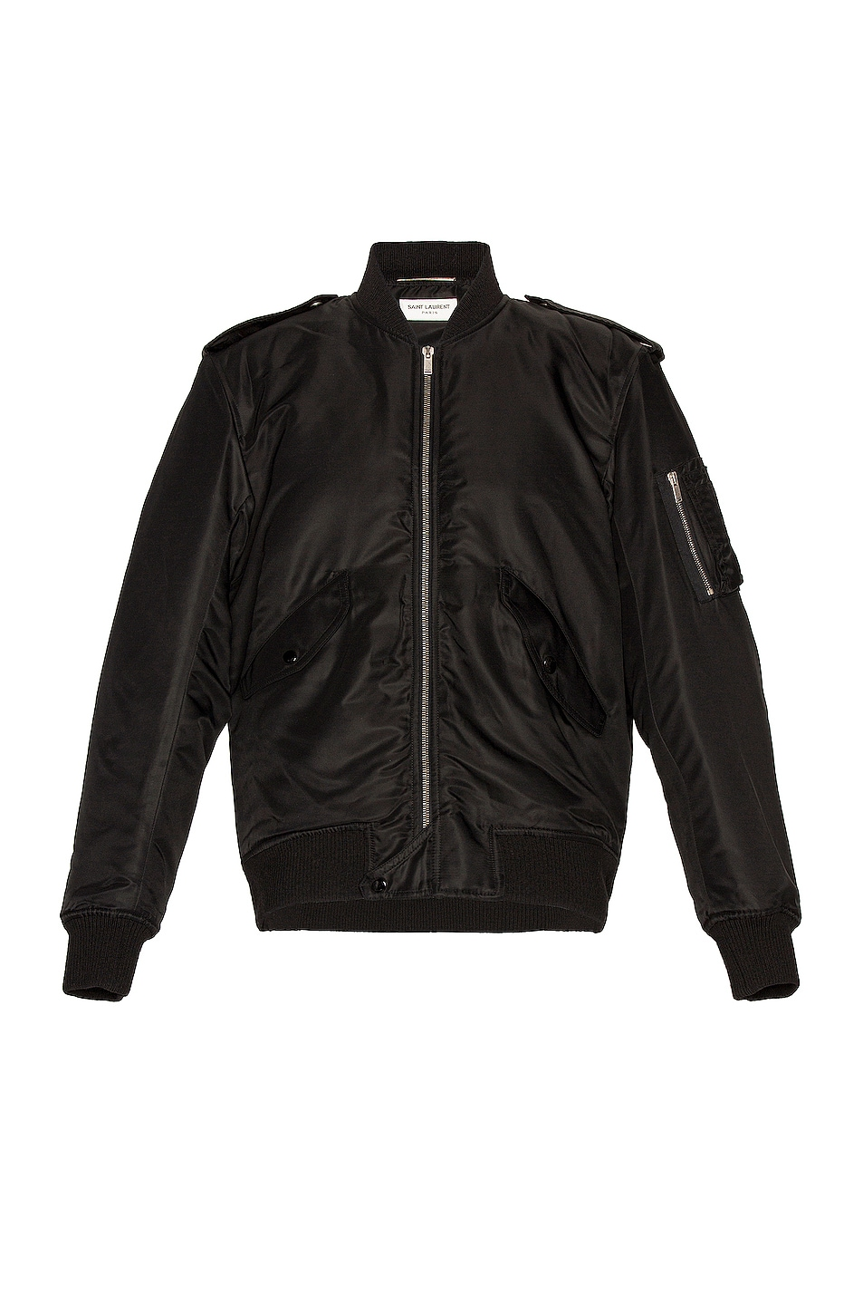 Image 1 of Saint Laurent Bomber Jacket in Black