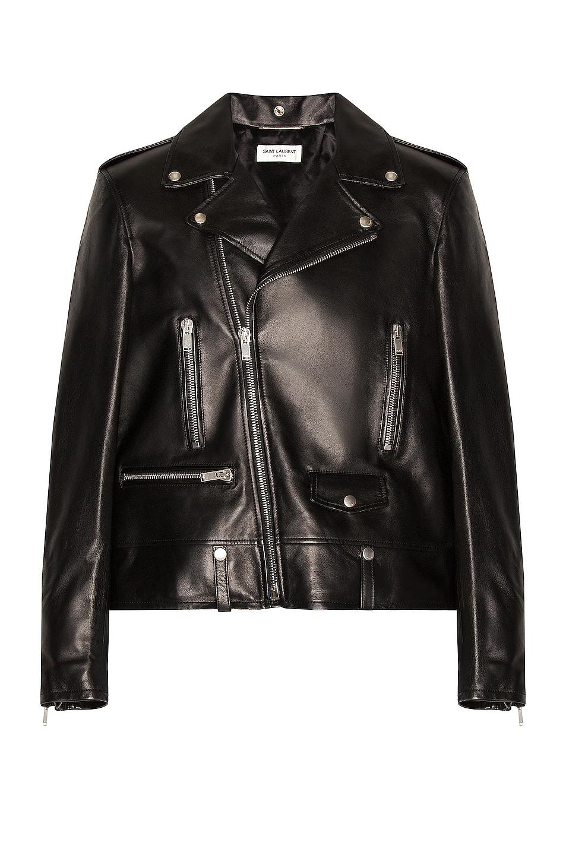 Image 1 of Saint Laurent Classic Motorcycle Jacket in Black
