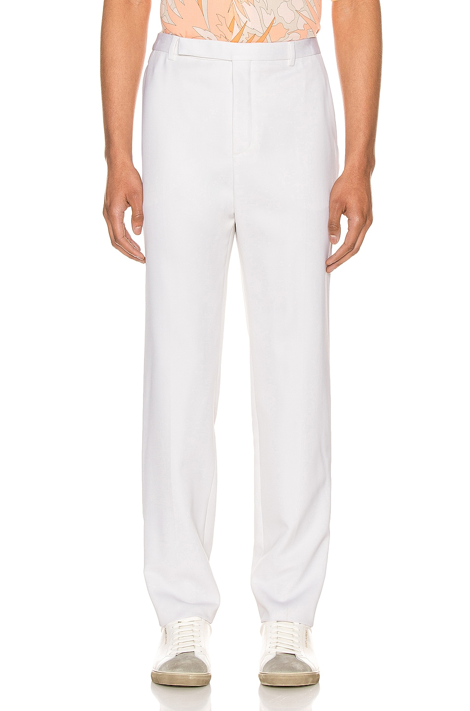 Image 1 of Saint Laurent Fit Trousers in Chalk