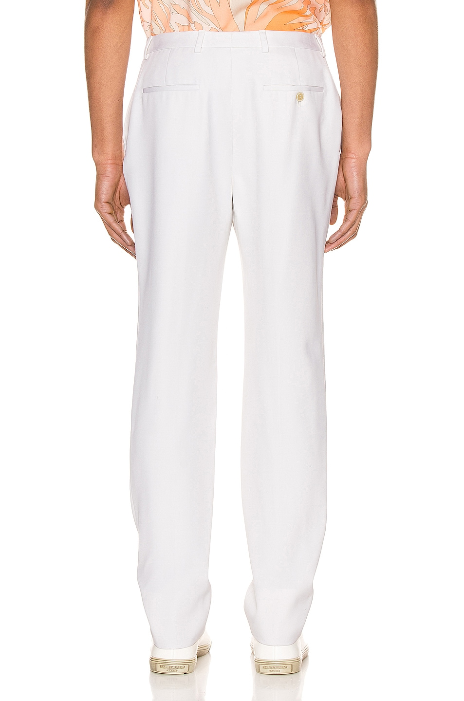 Image 3 of Saint Laurent Fit Trousers in Chalk
