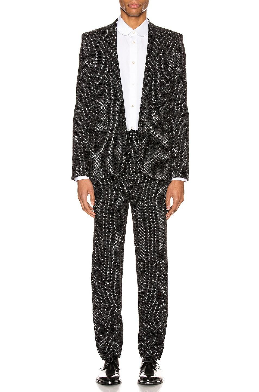 Image 4 of Saint Laurent Fit Trousers in Black
