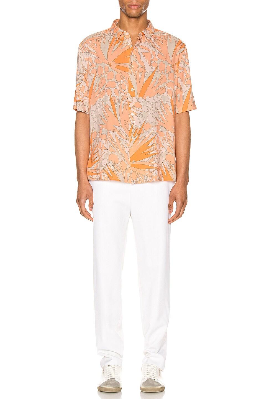 Image 4 of Saint Laurent Short Sleeve Shirt in Orange Taupe