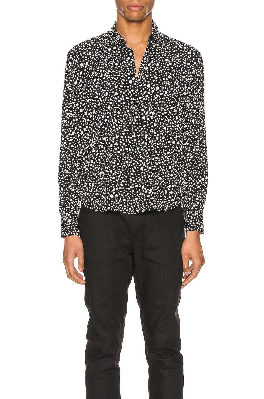 Image 1 of Saint Laurent Long Sleeve Shirt in Black Chalk