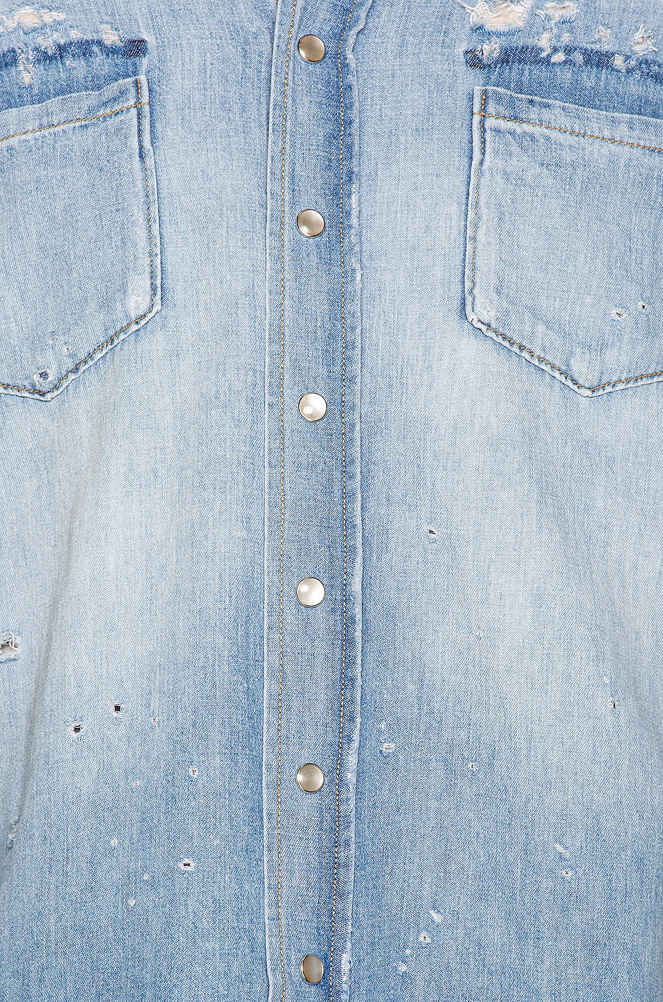 Image 6 of Saint Laurent Western Shirt in Dusty Pink Blue