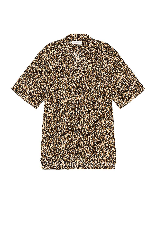 Image 1 of Saint Laurent Short Sleeve Button Down in Leopard