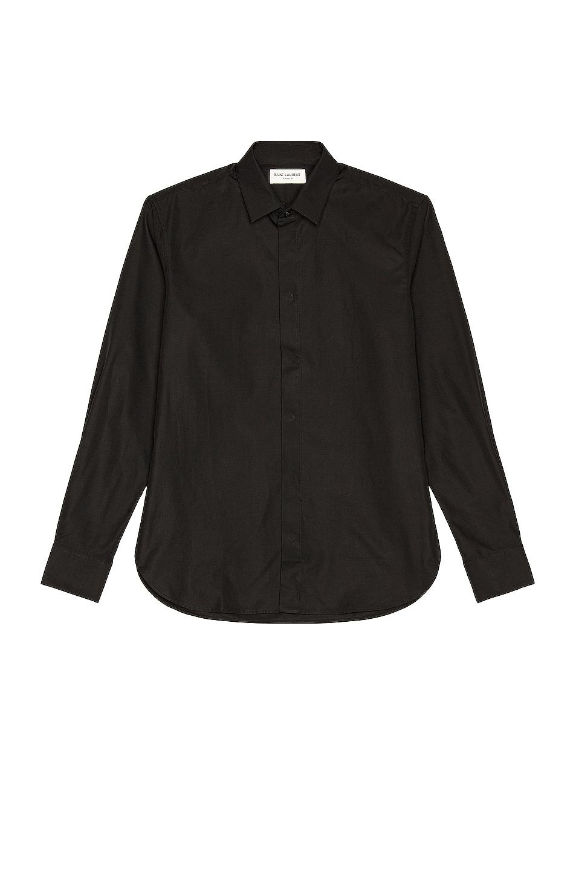 Image 1 of Saint Laurent Classic Yves Shirt in Black