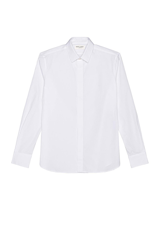 Image 1 of Saint Laurent Classic Yves Shirt in White