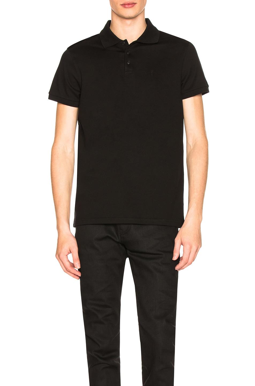 Image 1 of Saint Laurent Sport Polo in Black