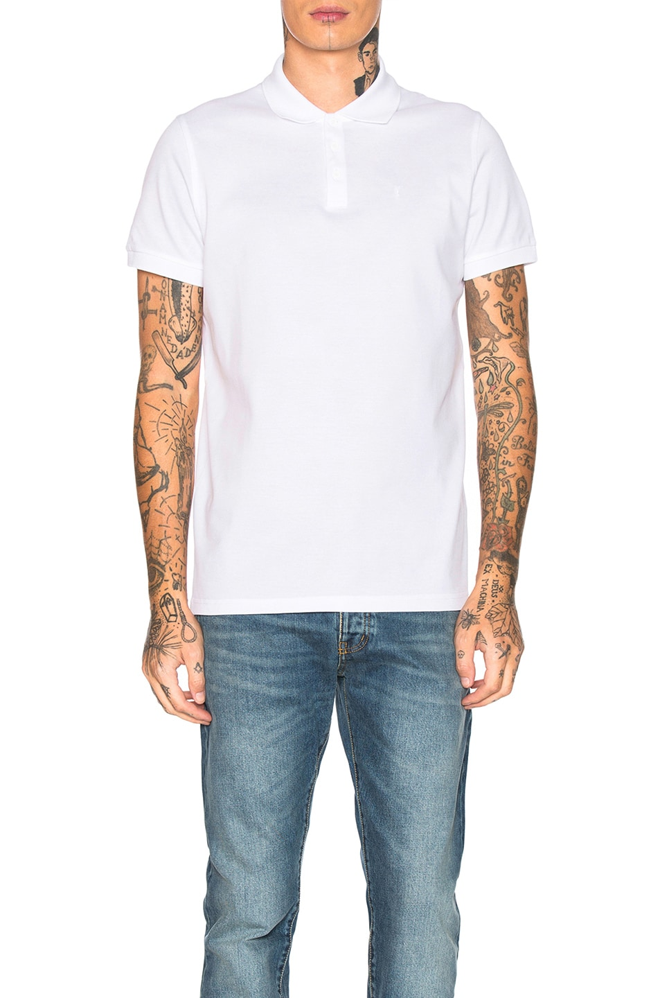 Image 1 of Saint Laurent Sport Polo in White