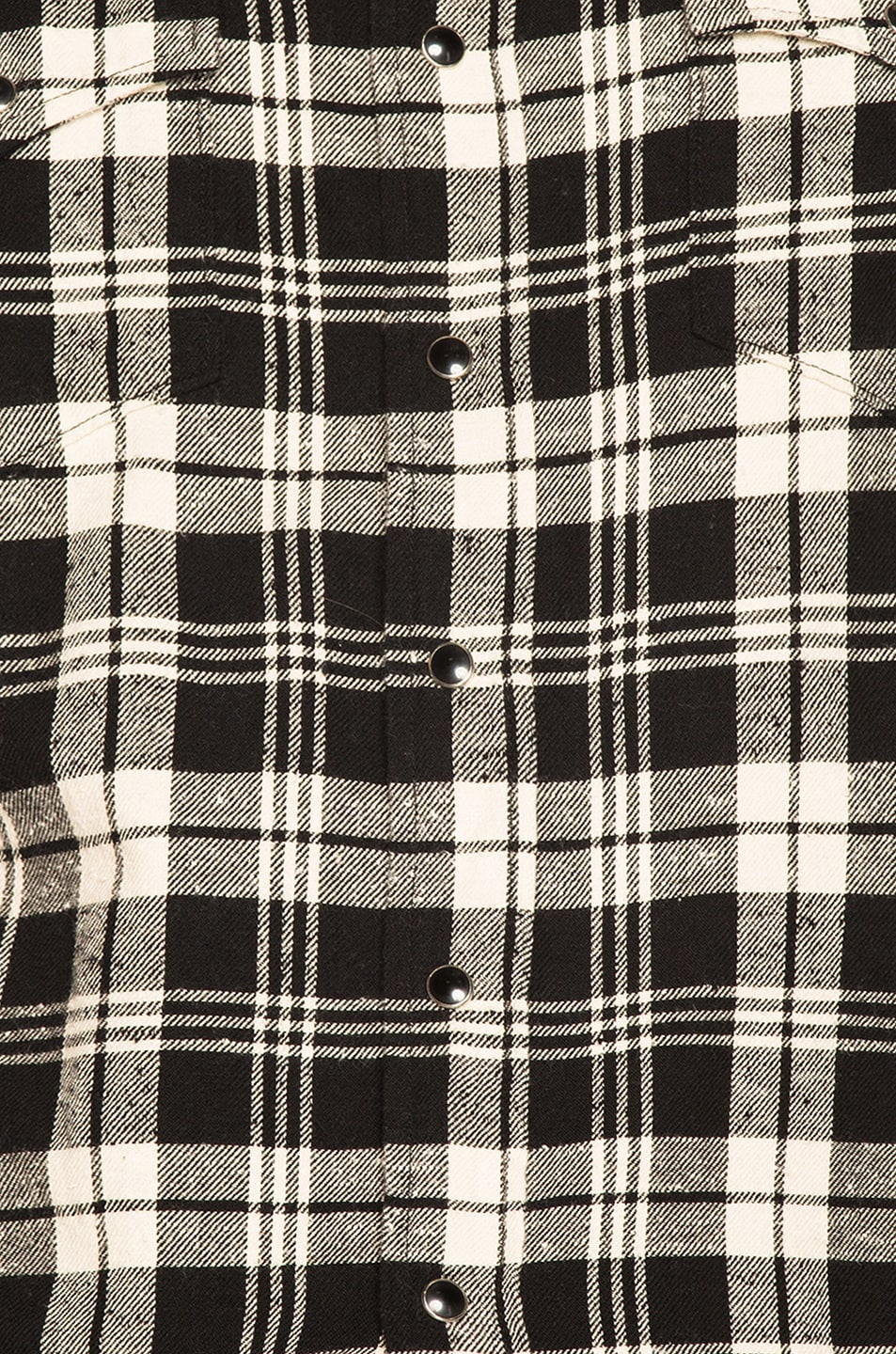 Image 5 of Saint Laurent Classic Western Shirt in Black & White Check