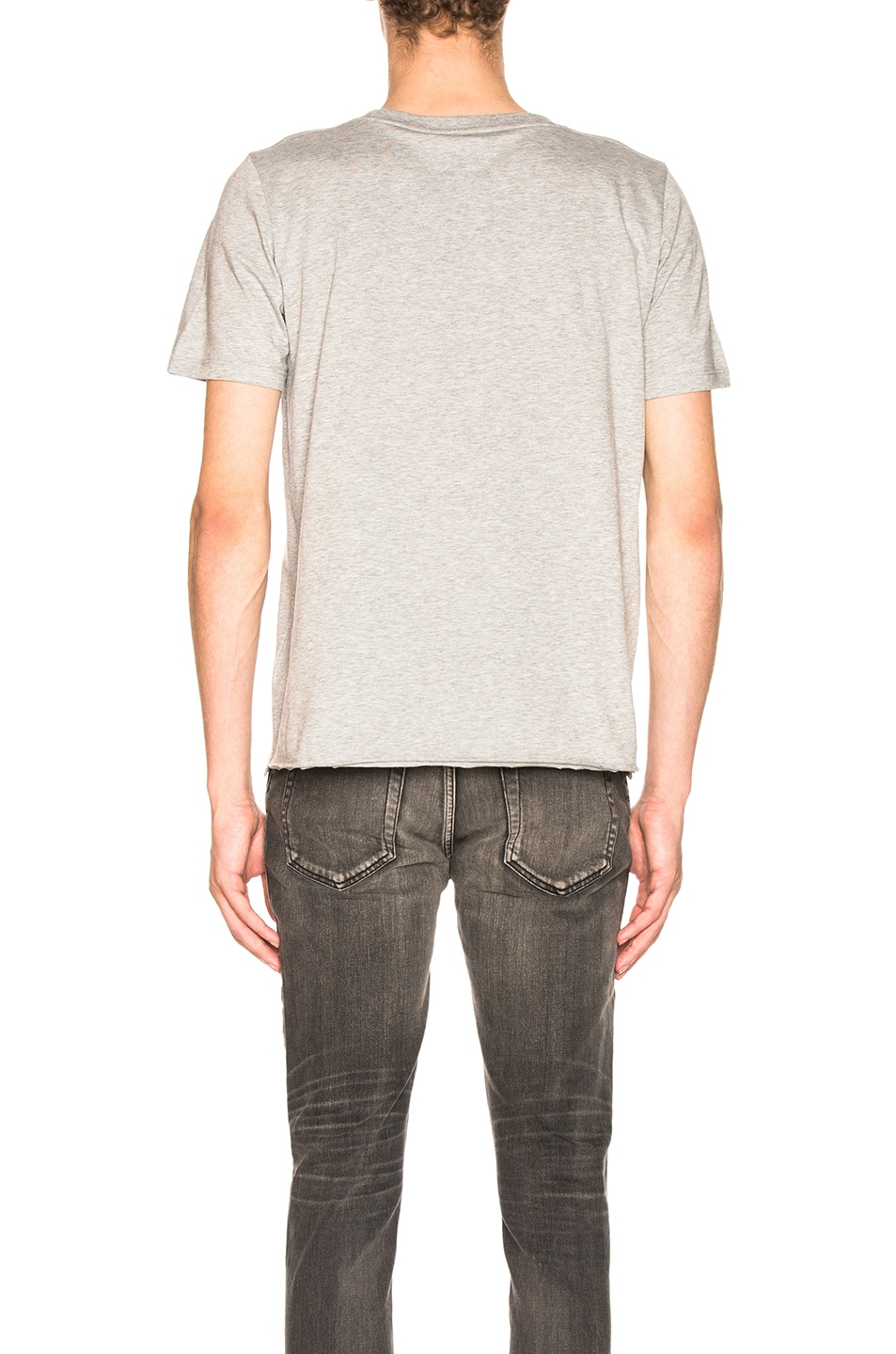 Image 3 of Saint Laurent Classic Logo Tee in Grey