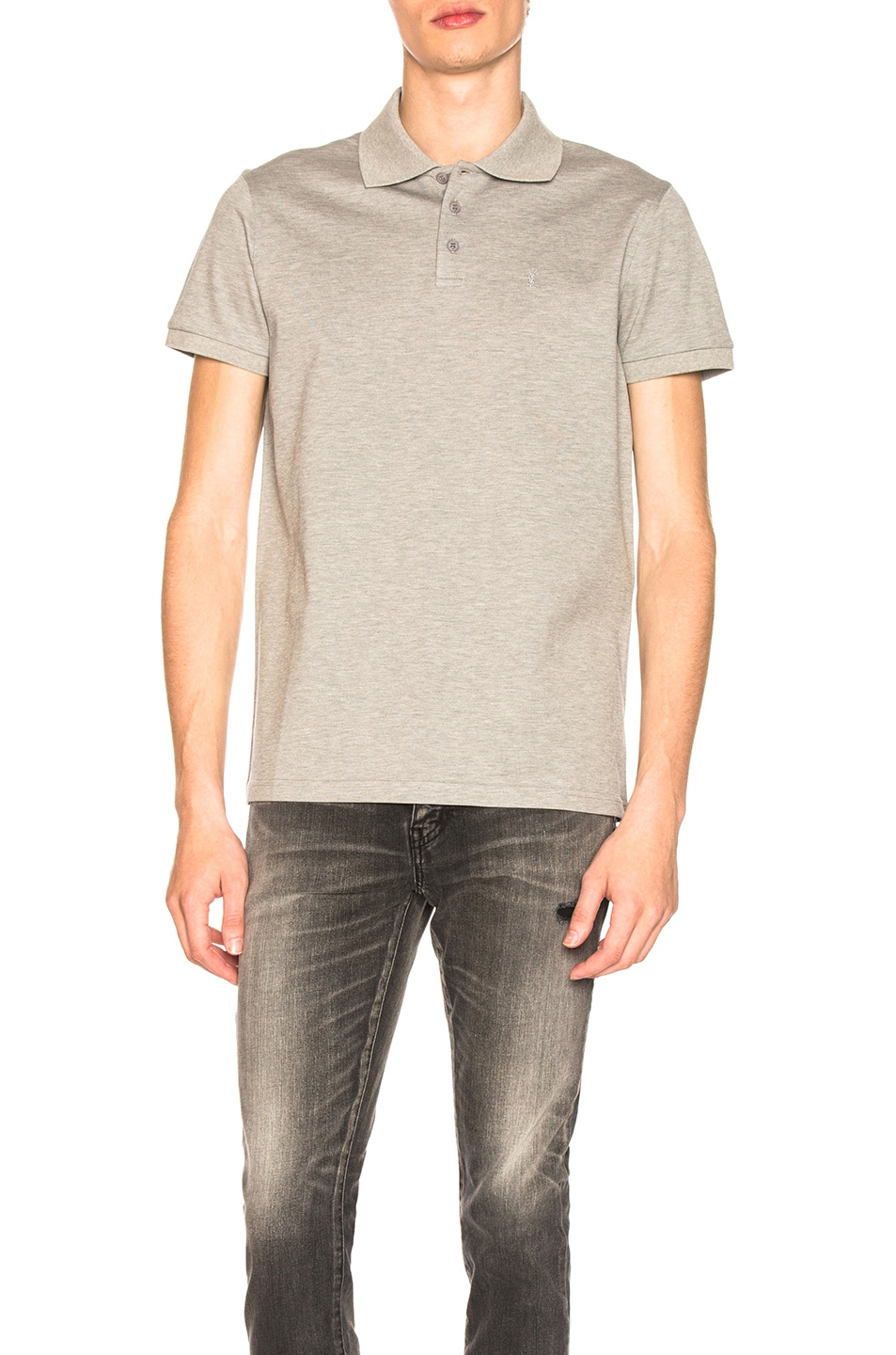 Image 1 of Saint Laurent Sport Polo in Grey