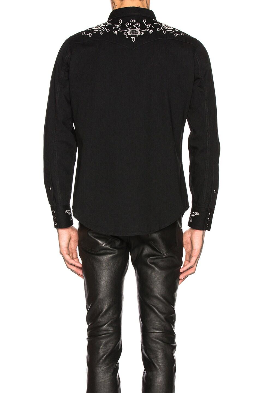 Image 3 of Saint Laurent Classic Western Shirt in Black Rinse