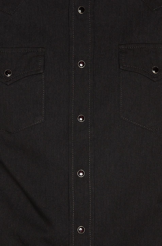 Image 5 of Saint Laurent Classic Western Shirt in Black Rinse
