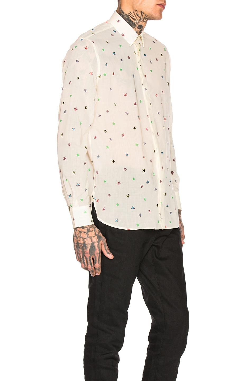 Image 2 of Saint Laurent Star Print Shirt in Multi