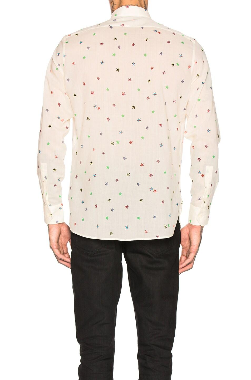 Image 3 of Saint Laurent Star Print Shirt in Multi