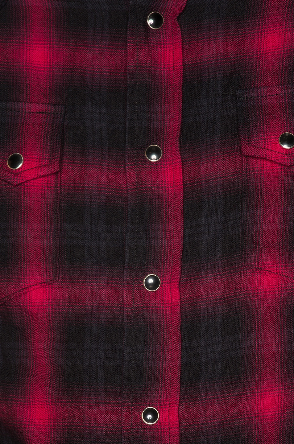 Image 5 of Saint Laurent Classic Texas Shirt in Black & Red