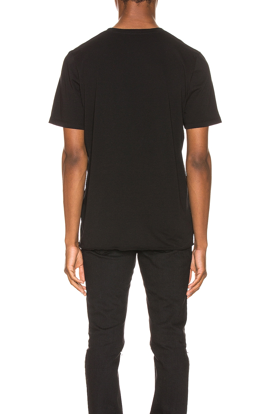 Image 3 of Saint Laurent Star Logo Tee in Black & Silver