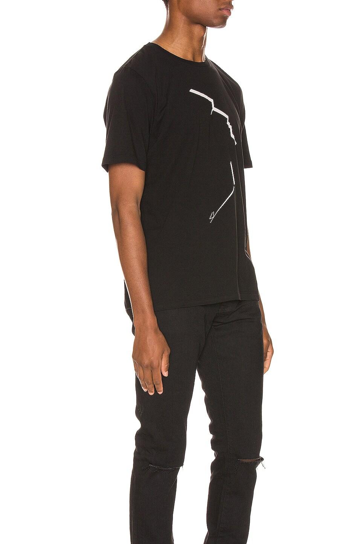 Image 2 of Saint Laurent Face Print Tee in Black & Natural