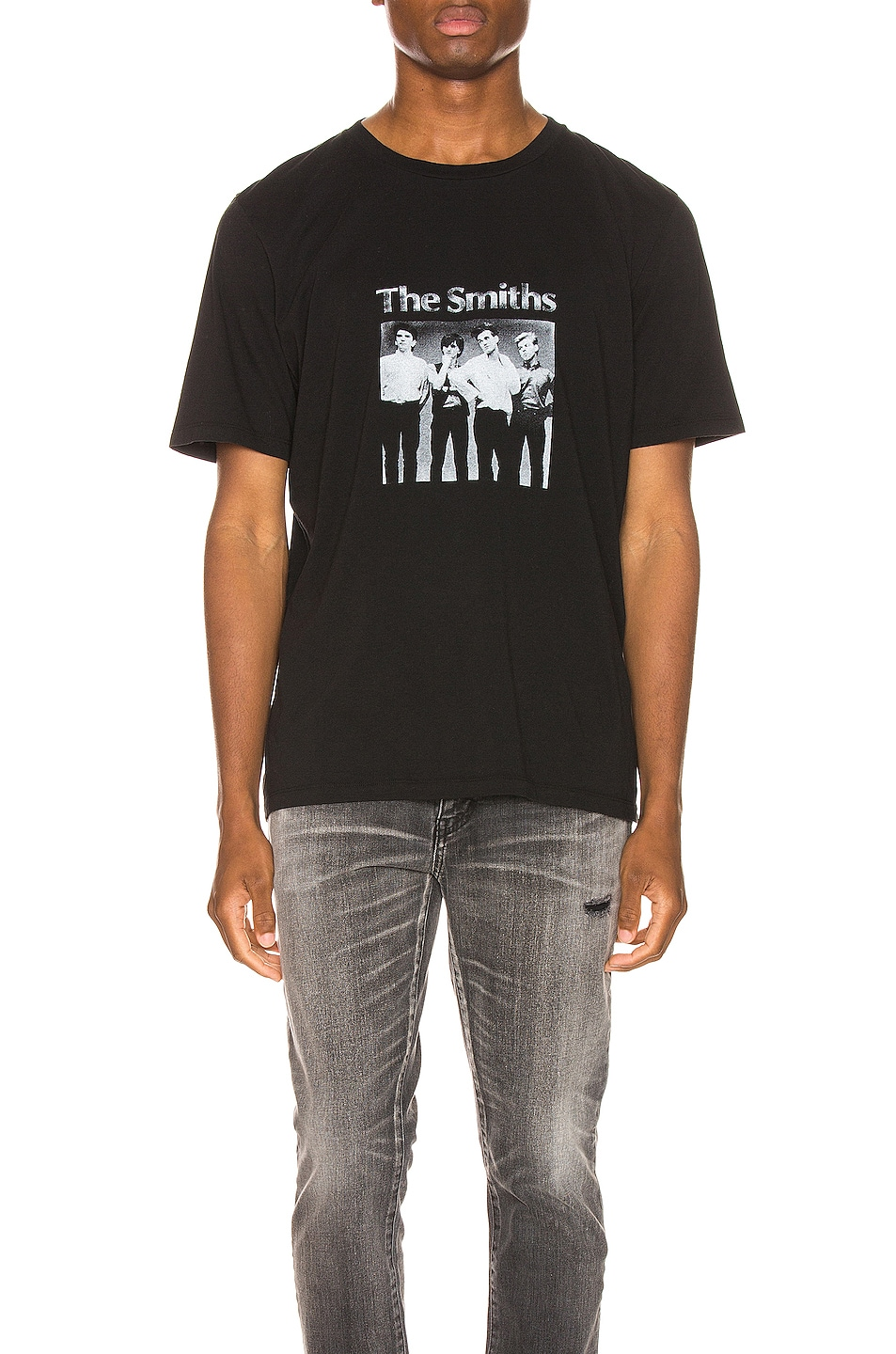 Image 1 of Saint Laurent The Smiths Tee in Black & Natural
